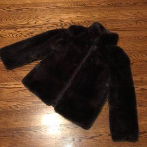 Zara faux fur jacket size M
